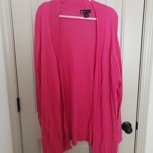 Lane Bryant Pink Open Sweater